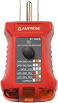 amprobe insp 3 wiring inspection tester voltage testers amazon comamprobe insp 3 wiring inspection tester; amprobe st 102b socket tester with gfci