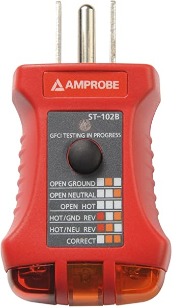 amprobe insp 3 wiring inspection tester voltage testers amazon comamprobe st 102b socket tester with gfci