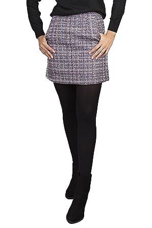 c8aa174606e LACHERE Tweed A-Line Skirt With Pockets