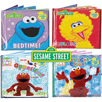 Sesame Street  Bath Time Bubble Books Featuring the Elmo  Grover  Big Bird. Amazon com   Sesame Street  Bath Time Bubble Books Featuring the