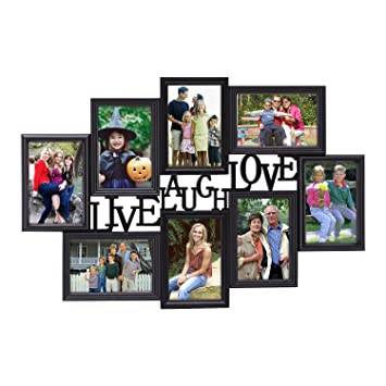 Amazoncom Adeco 8 Openings Deocrative Black Live Laugh Love Wall
