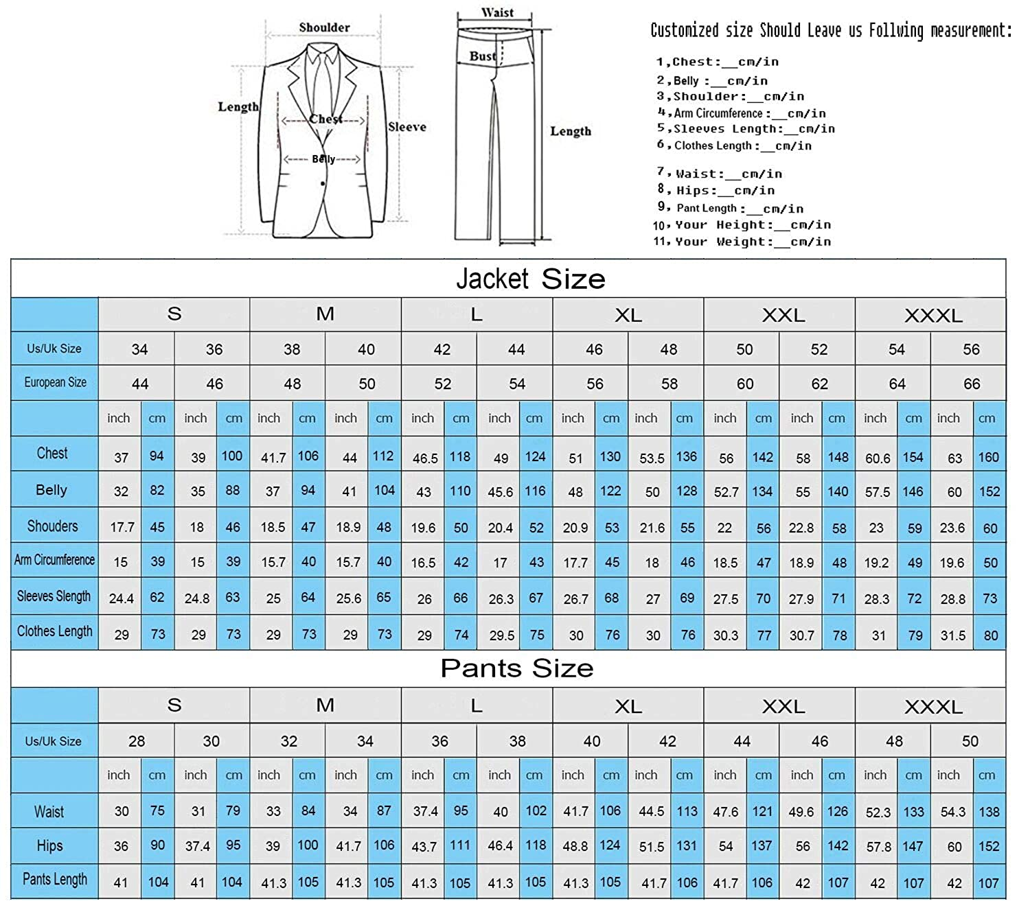 DIKN Mens 2-Piece Suit Two Buttons Wedding Tuxedo Blazer Prom Suits