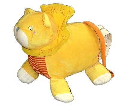 Peluche con mantita de seguridad, diseño de león, color naranja, rojo-Barnslig