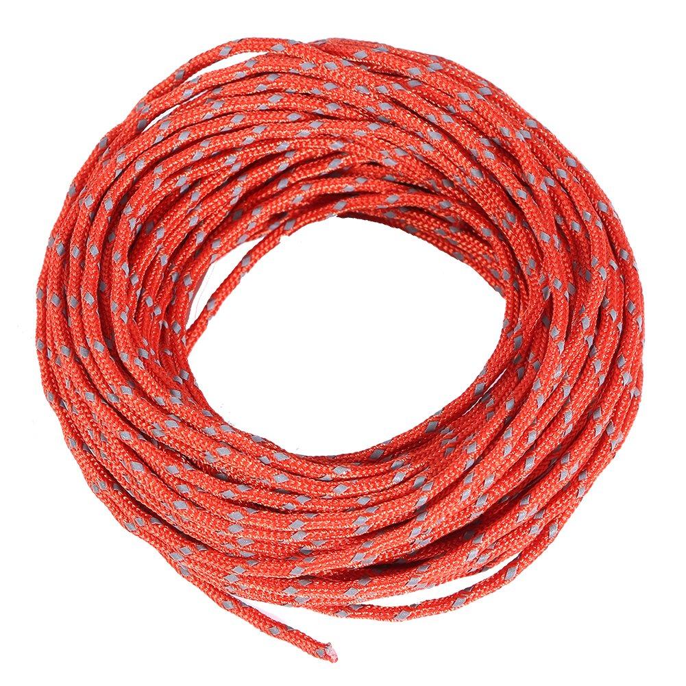 Alomejor 2,5/mm Reflektierende Zelt Seil Nylon Zelt Vorzelt Seil Guy Line Kordel f/ür Outdoor Camping und Wandern