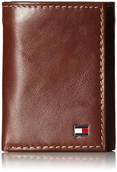 affec922493 Tommy Hilfiger Men's Leather Trifold Wallet,Logan Tan: Amazon.co.uk ...