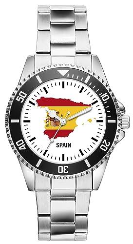 La bandera de España Spain país de contorno reloj - Reloj de Pulsera 1099: Amazon.es: Relojes