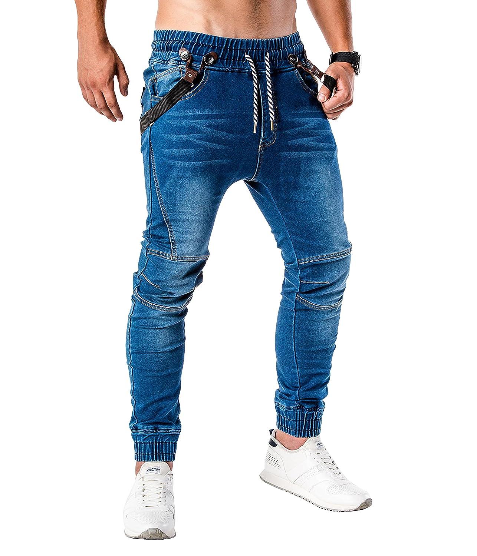 BetterStylz Herren Jeans Jogger JenWoodBZ mit Abnehmbaren Hosenträger in Jeans-Look & Jeansoptik