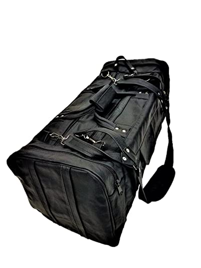 40f4a881e8 Image Unavailable. Image not available for. Color  genuine leather travel  duffel sports gym bag