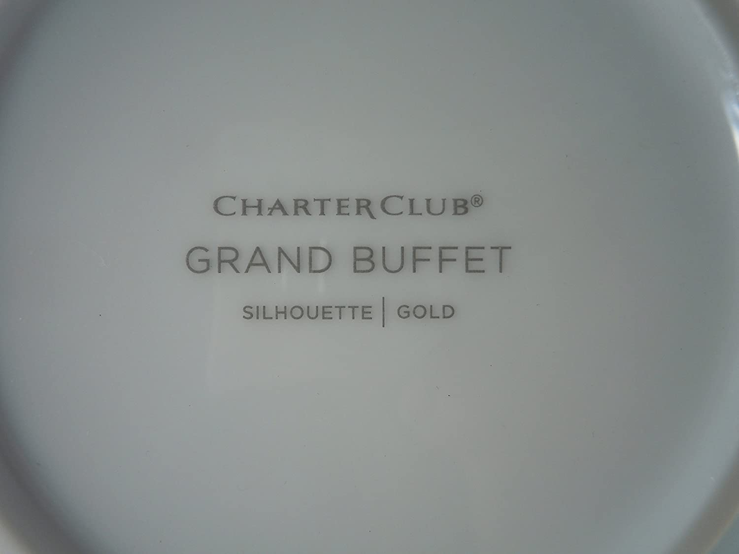 Amazon.com | Charter Club Grand Buffet Gold Silhouette Soup Cereal ...