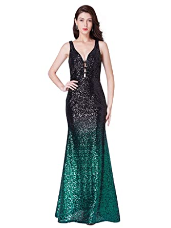 ed650a92e557 Ever-Pretty Women Fashion Sequins Floor Length Vneck Evening Dresses ...