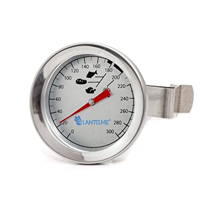 Lantelme Freidoras - aceite - grasa termómetro 300 ° c de acero inoxidable con soporte de