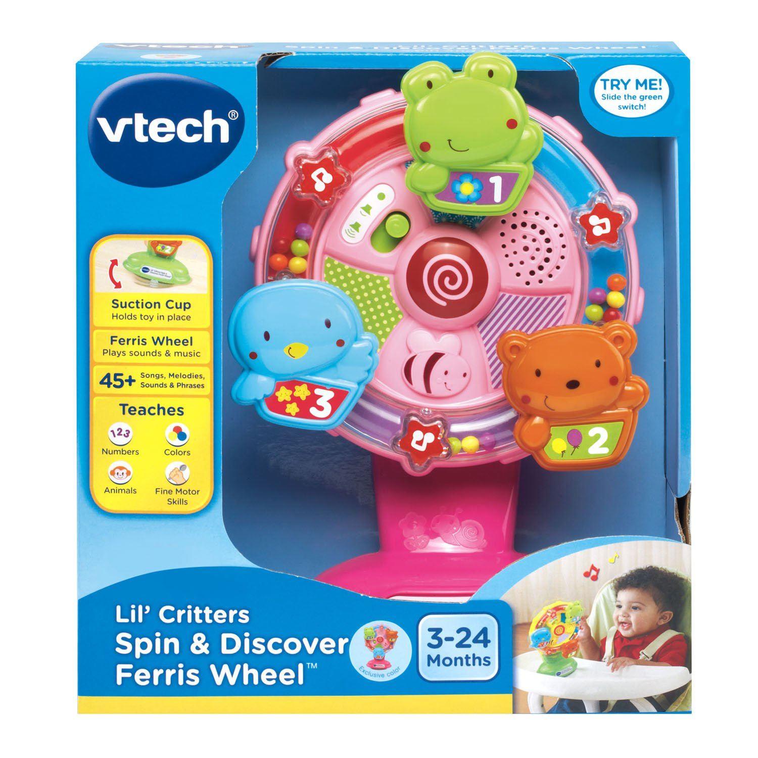 VTech Lil' Critters Spin and Discover Ferris Wheels, Pink (Amazon Exclusive) by VTech (Image #6)