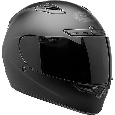 BELL Qualifier DLX Blackout Street Motorcycle Helmet (Blackout Matte Black, Medium): Automotive