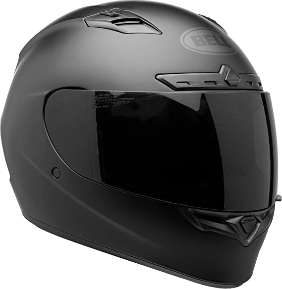 BELL Qualifier DLX Blackout Street Motorcycle Helmet (Blackout Matte Black