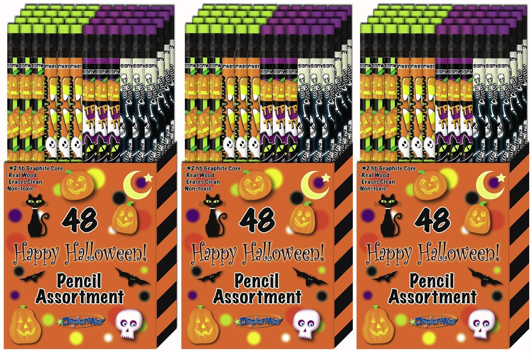 DesignWay Halloween Pencil, 48-Pack (3-(Pack))