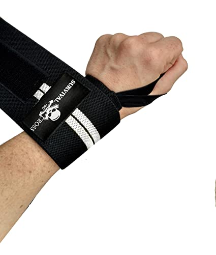 """5c117ee5be Survival and Cross Wrist Wraps - 18"""" Professional Quality Training Straps  for Support in Weightlifting"""