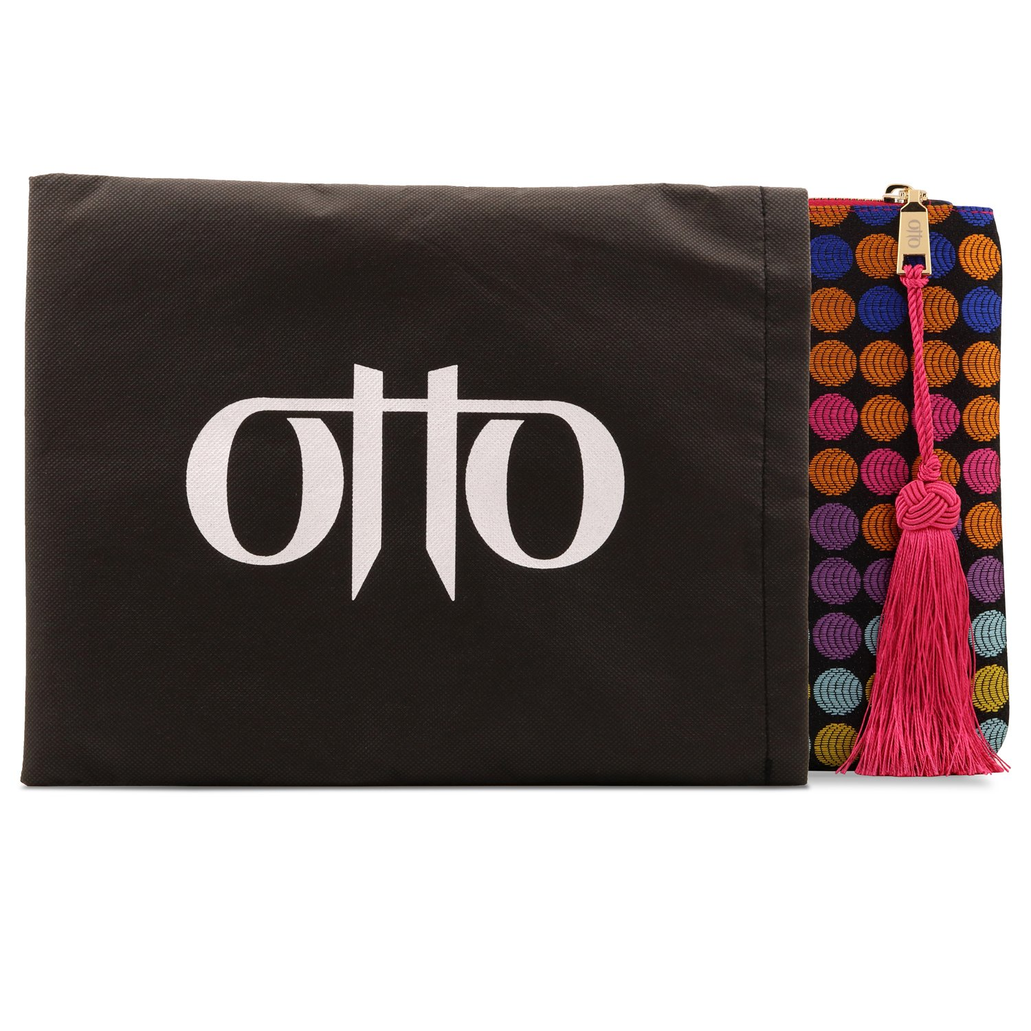 Otto Designer Women's Bohemian Clutch Purse - Multiple Slots Money, Cards, Smartphone - Ultra Slim (Dots) by OTTO Leather (Image #3)