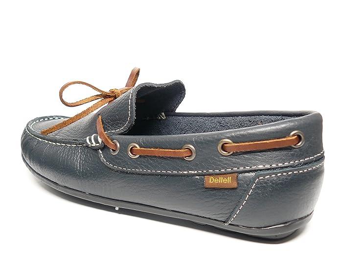 Zapato casual hombre tipo mocasin DELTELL en piel color marino - 970 ...