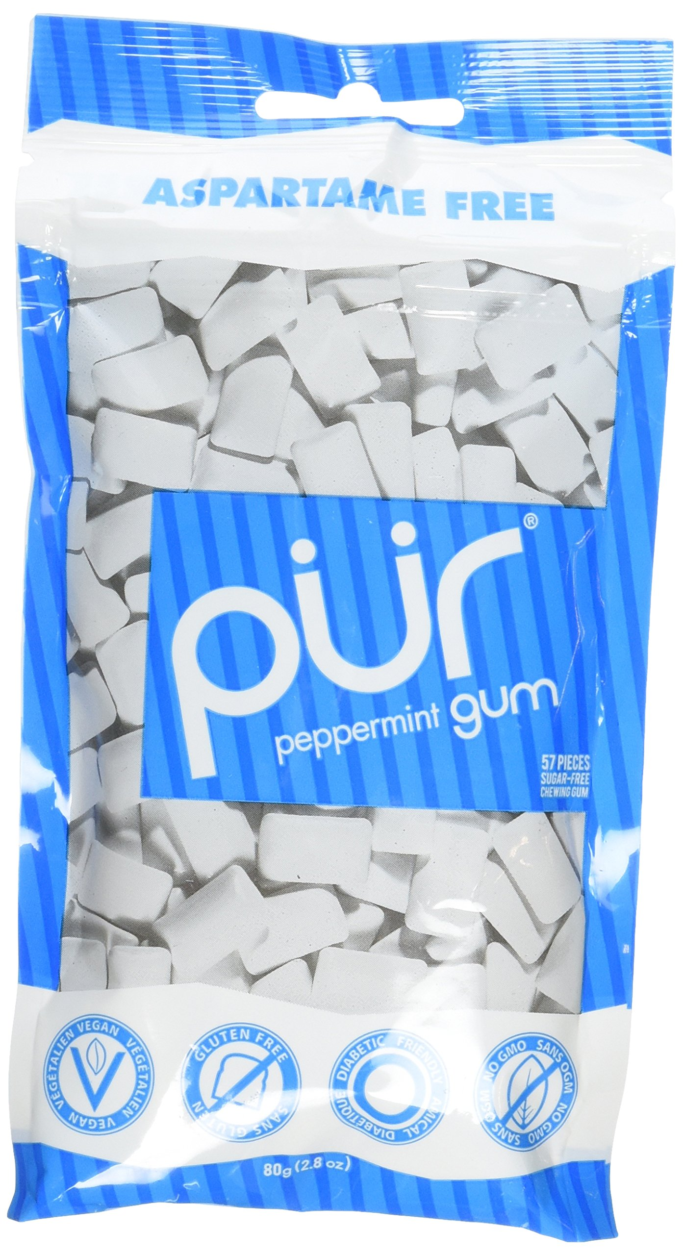 Pur Gum, Peppermint, 2.82-Ounce (Pack of 12) by PUR