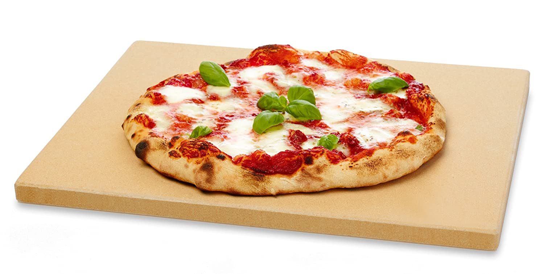 38x30 cm mit Pizzaschaufel und Pizzamehl eckig Brotbackbackstein Set f/ür Backofen und Grill Vesuvo V38301 Pizzastein-
