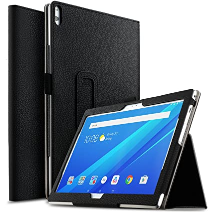 super popular 873ac 8ac98 IVSO Case for AT&T Lenovo Moto Tab, Ultra Lightweight Leather Stand Cover  Case for AT&T Lenovo Moto Tab/Lenovo Tab 4 10 Plus Tablet (Black)
