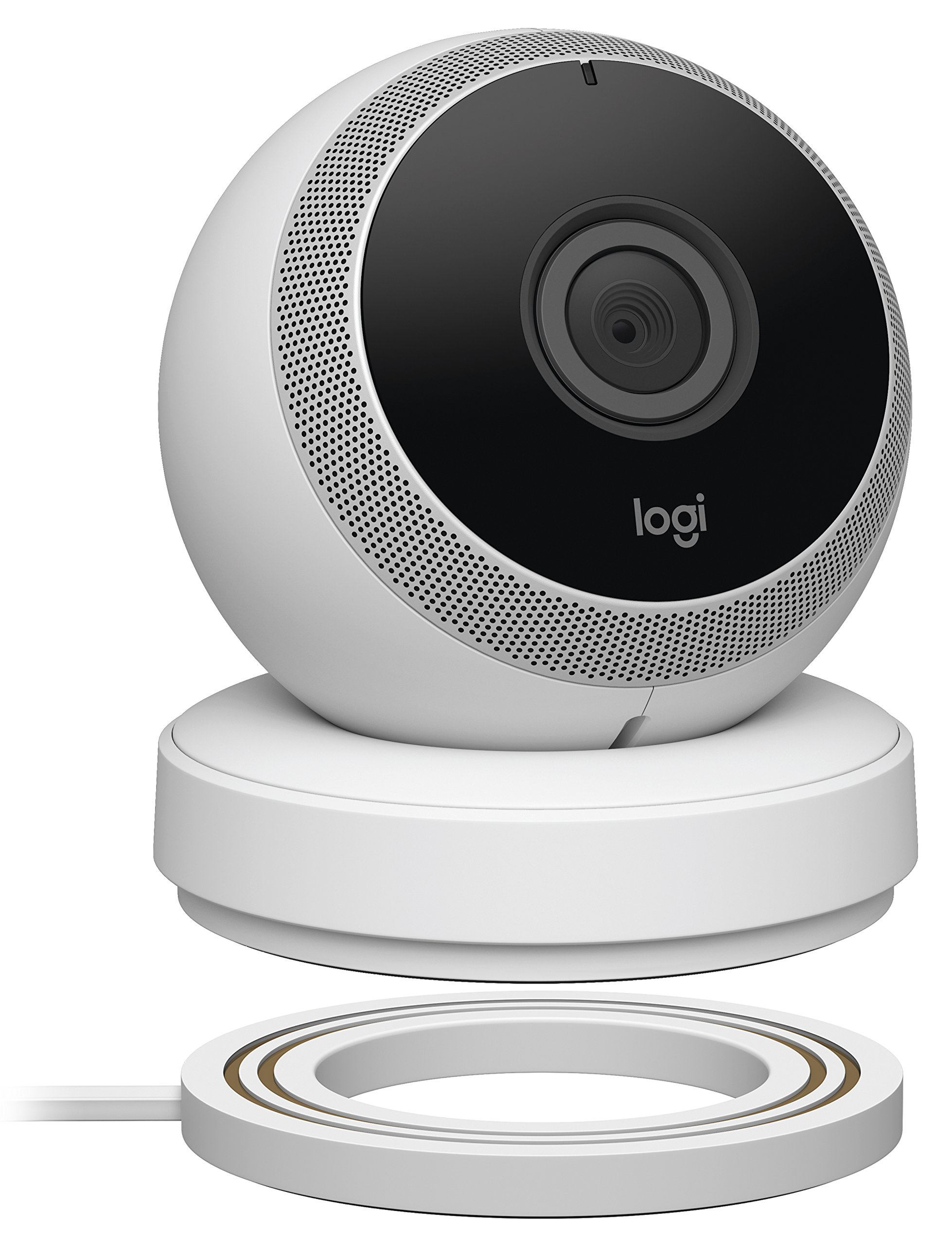 Logitech Circle Wireless HD Video Battery Powered Security Camera with 2-way talk – White
