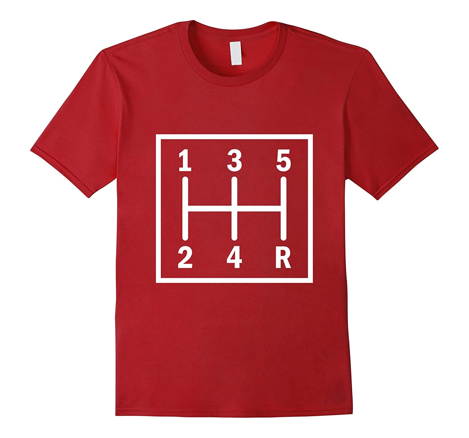 5-speed Stick Shift T-shirt for Racers Truckers Car Buffs