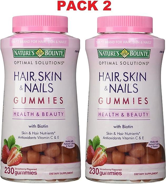 Top 10 Hair Skin Nails Nature Made Gummies 150