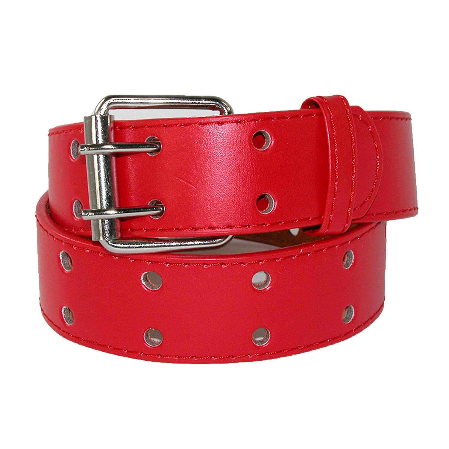 CTM Kids' Leather Two Hole Jean Belt