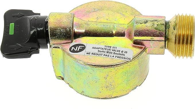 Swiftgood Adaptateur de Bouteille de gaz Adaptateur de cuisini/ère /à gaz ext/érieur Coupleur Rond de gaz Adaptateur de Bouteille de gaz Accessoires de Charge de gaz Fourniture de Camping