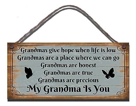 Diseño con texto en inglés carcasa diseño con texto en inglés de madera Grandmas da un