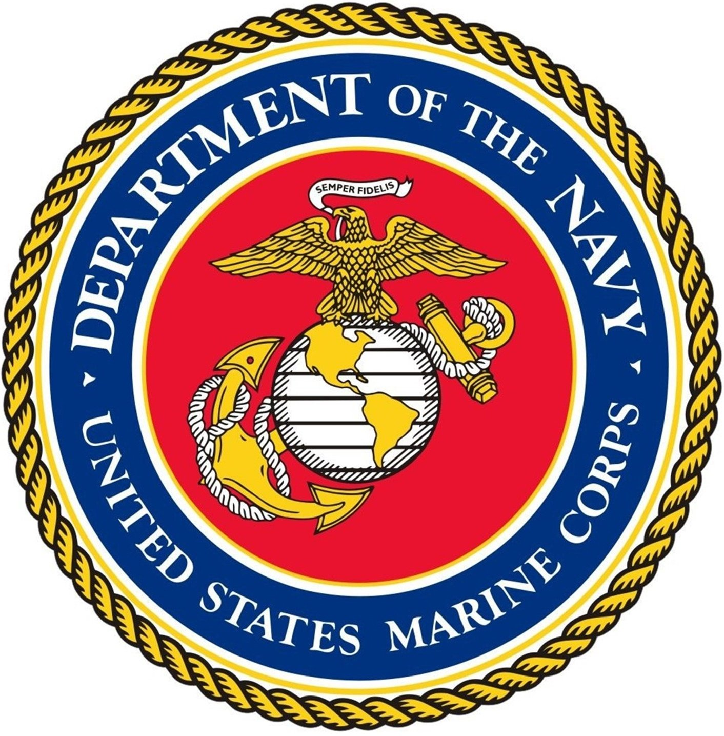 Chiam-Mart 1 Pc Magnificent Unique United States Marine Corps Department of The Navy Semper Fidelis Stickers Sign Doors Bumper Window Graphics Laptop Decal Wall Hoverboard Decor Sticker Size 8''x8''