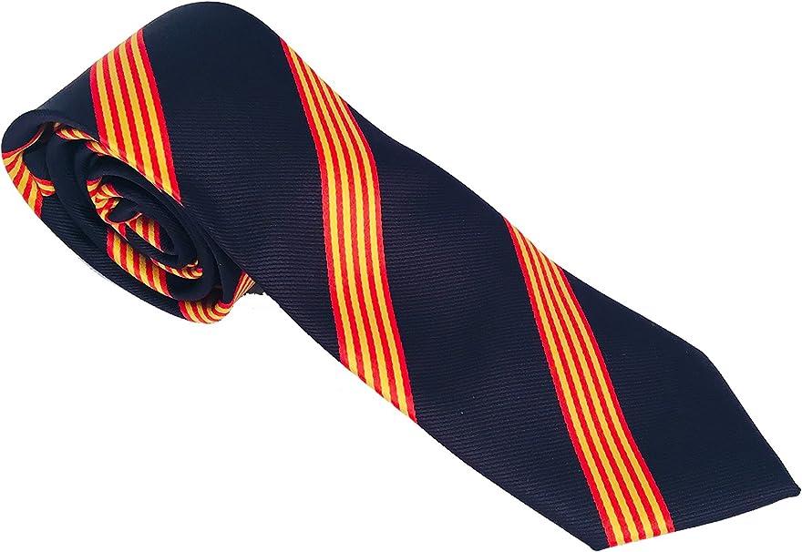 Corbata azul bandera catalana - corbata catalana - corbata bandera ...