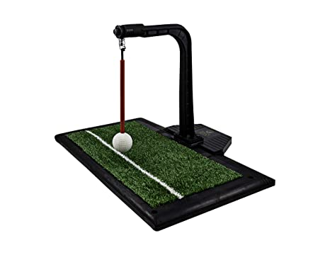 Golf club swinging machine similar. You
