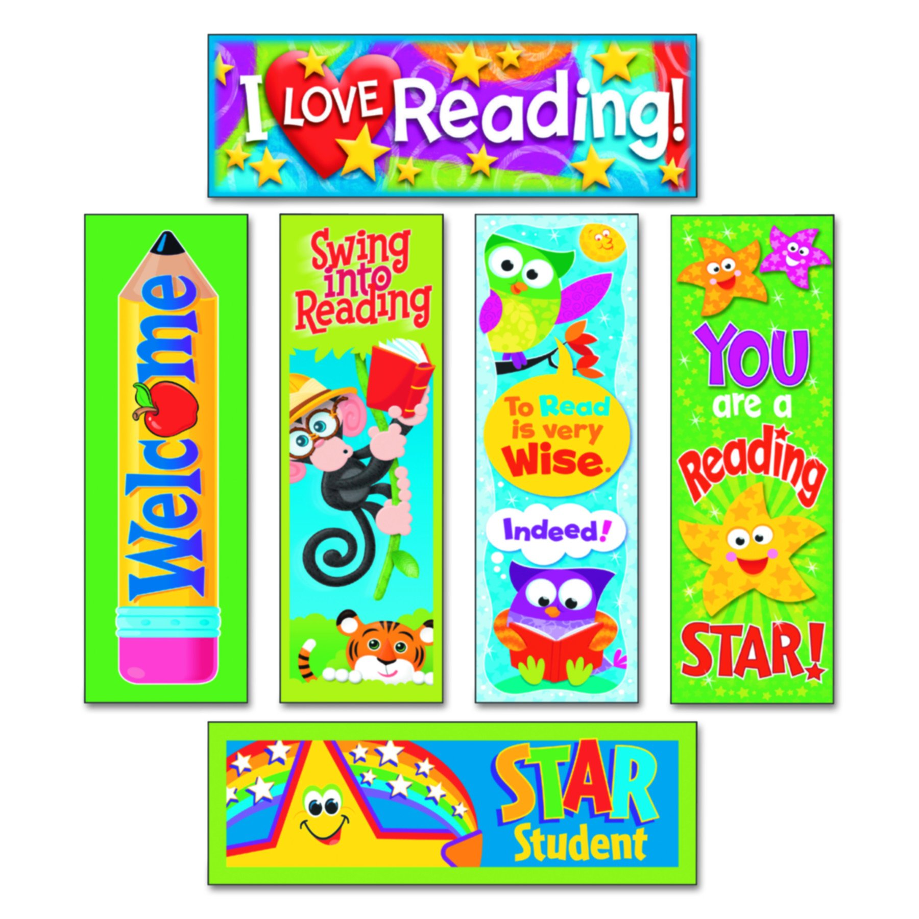 TREND T12907 Bookmark Combo Packs, Reading Fun Variety Pack #2, 2w x 6h (Pack of 216)