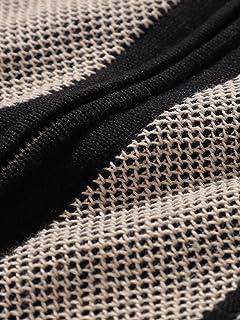 Stripe Cotton Linen Full Zip Knit Polo 11-05-0176-156: Black
