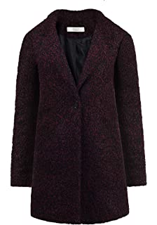 Vestino Damen Wollmantel Reverskragen Pattentaschen leichte A-Linien-Form NEU