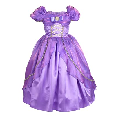 Dressy Daisy Girls' Princess Dress Up Halloween Fancy Costume Cosplay Party: Clothing