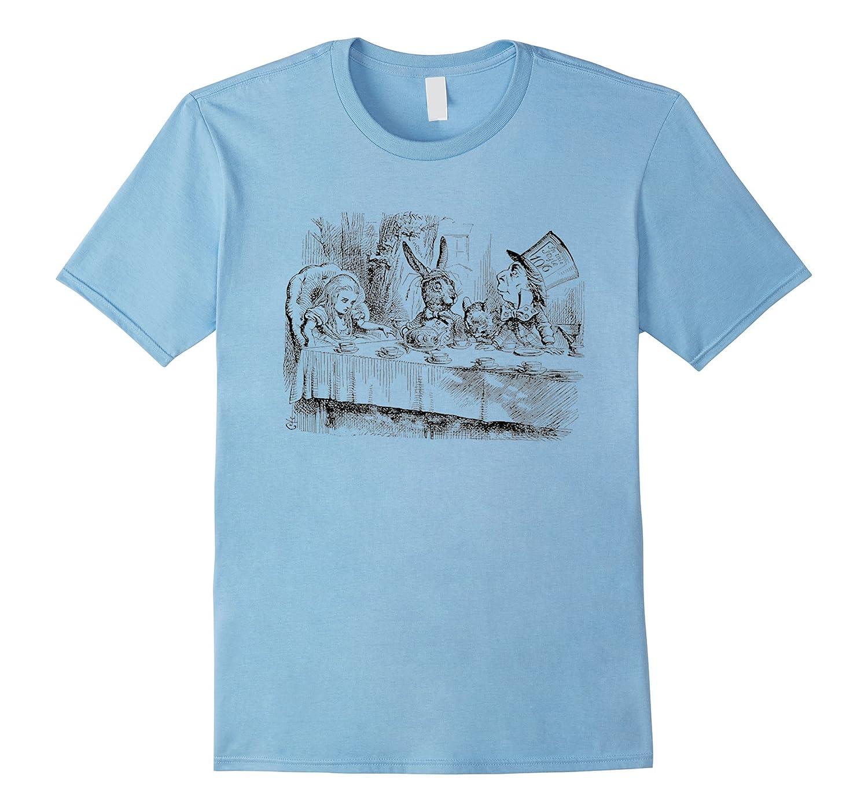 vintage alice in wonderland mad hatter rabbit tea t shirts