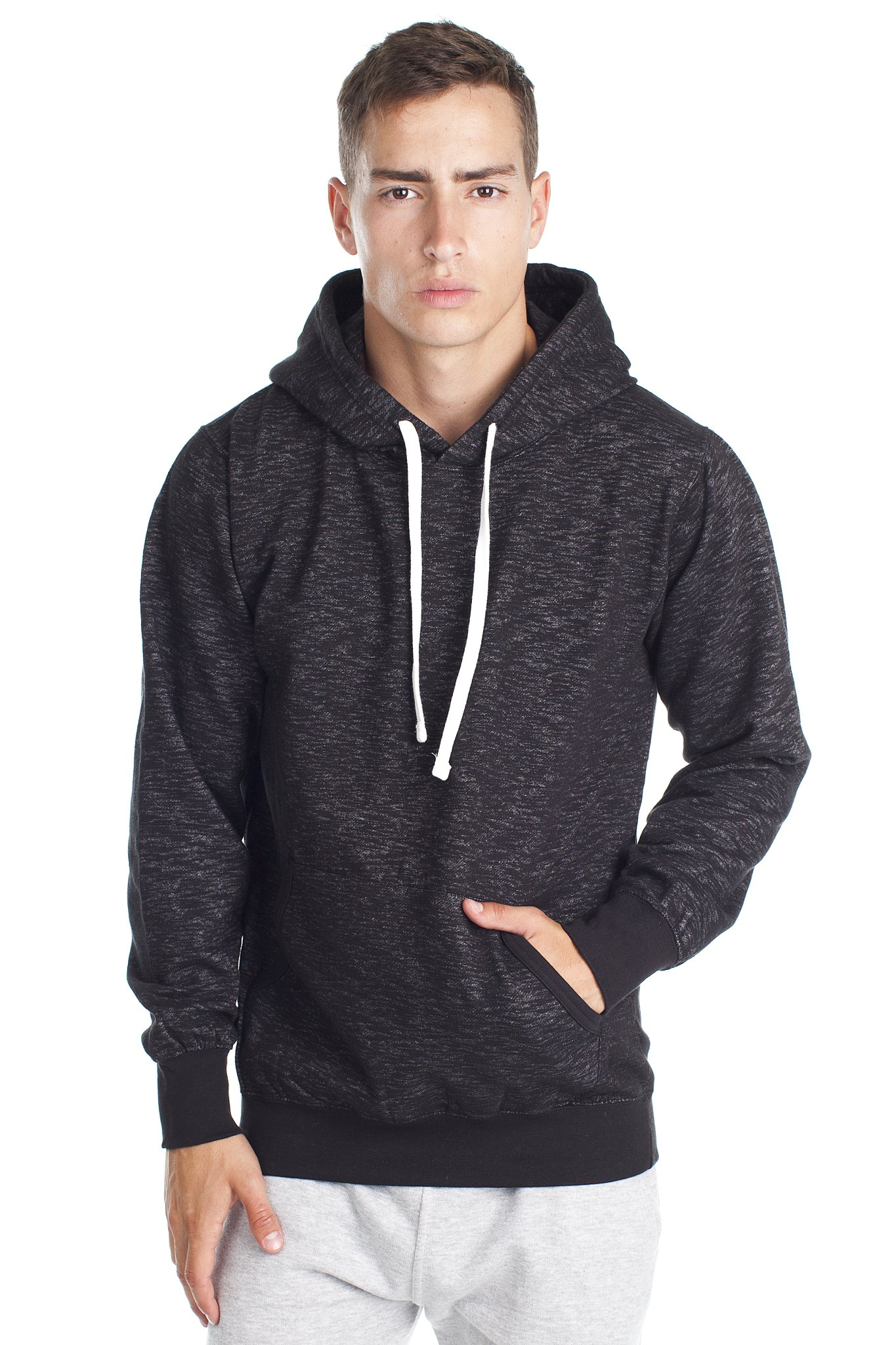 Mens Pullover Sweatshirt Hoodie with Fashion Fit in