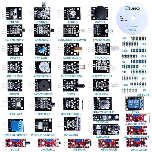 24 opinioni per Elegoo 37-in-1 Kit Modulo Sensore Elettronici V1.0 con Tutorial in Inglese per