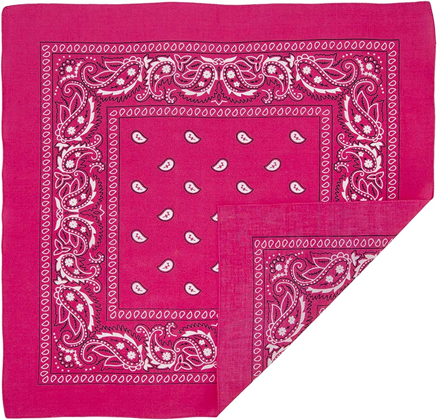 Bandanas 12 Pack 100/% Cotton Headband Paisley Print Cowboy Head Wrap Scarf For Men Women Pets