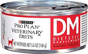 Purina Pro Plan Veterinary Diets DM Dietetic Management Feline Formula Wet Cat Food - (24) 5.5 Oz Cans
