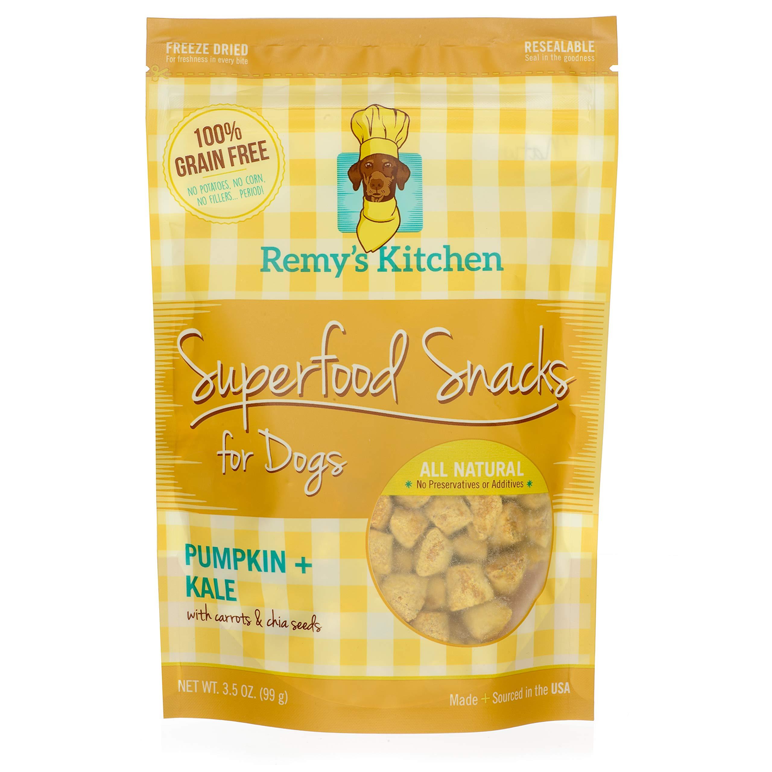 Remy's Kitchen Pumpkin Kale Superfood Snacks for Dogs, Orange, 3.5 oz