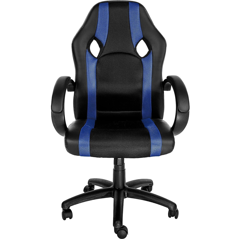 TecTake Silla de Oficina Sillon de despacho Ejecutivo Estudio giratoria Racing - Disponible en Diferentes Colores - (Azul | no. 402160)