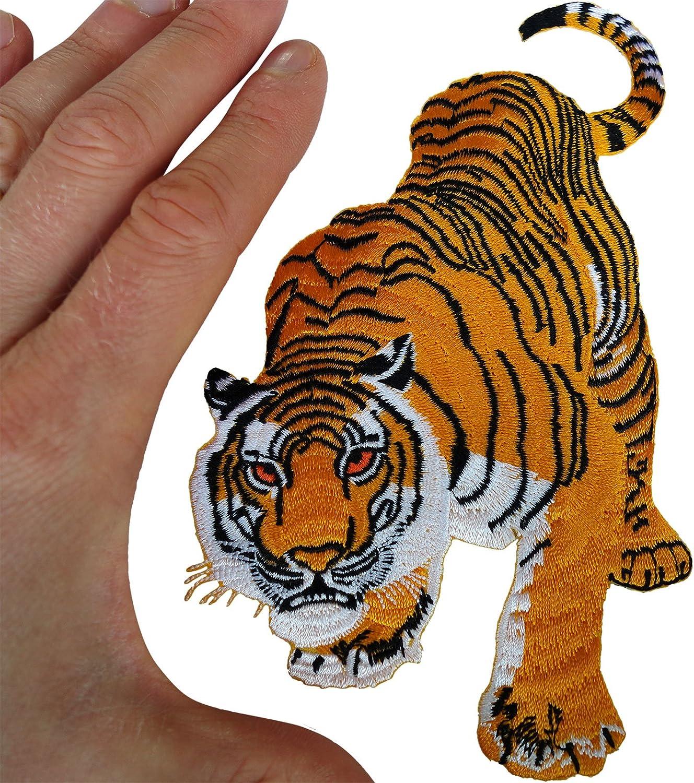 Tiger hierro parche para coser en la ropa bolsa T Shirt Animal ...