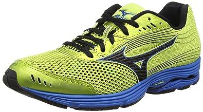 631561840edb Mizuno Wave Sayonara 3, Men's Running Shoes, Wild Lime/Black/Directoire Blue