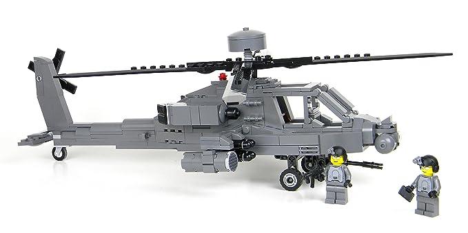 Amazon Battle Brick Custom Ah 64 Longbow Army Helicopter Custom