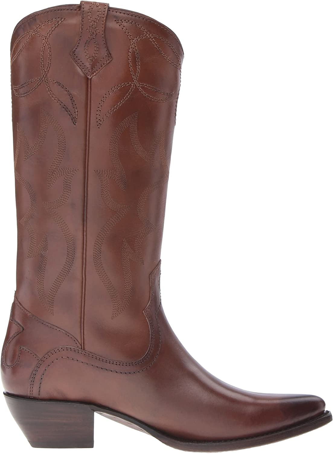 FRYE Shane Broderie pour Femme Taille L Whiskey