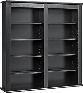 Prepac Double Wall MountedStorage Cabinet, Black